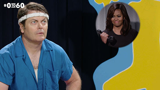 History Of Exercise With Nick Offerman and First Lady Michelle Obama