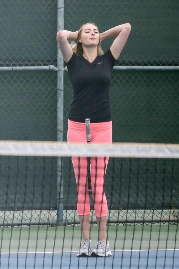 Watch Kate Upton Swing on the Tennis Court