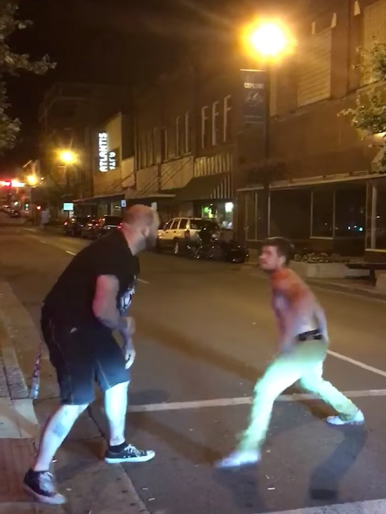 Drunk Guy Starts Fight With Trained MMA Bouncer
