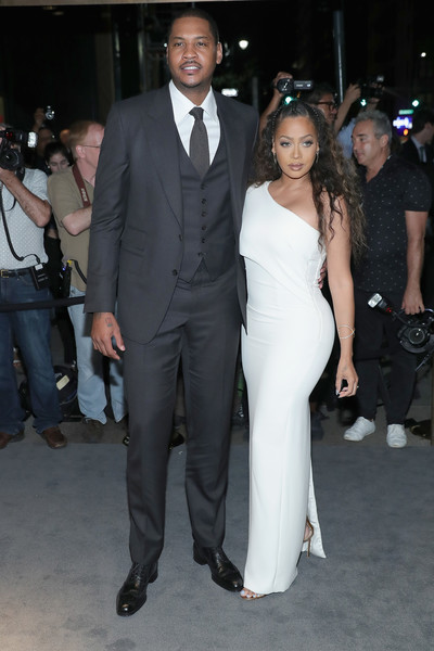 Carmelo and Lala Hit up Tom Ford and Yeezy Fashion Shows