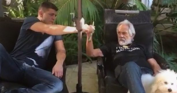 Nick Diaz and Tommy Chong smoke a GIANT joint