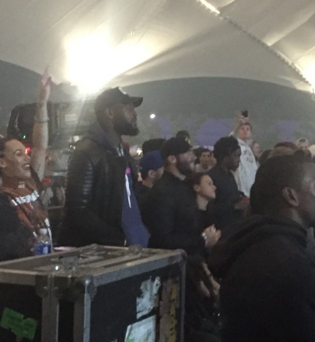 Julian Edelman and Martellus Bennett Spotted At Chance The Rapper
