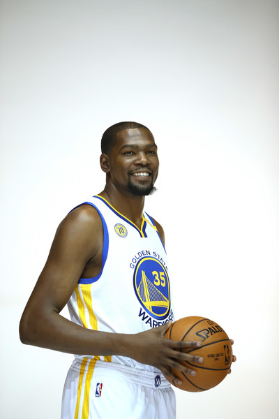 Kevin Durant At Golden State Media Day