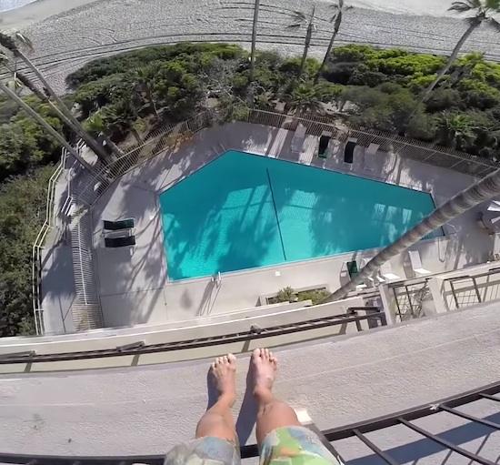 Crazy Pool Jumper That Posts Insane Stunts