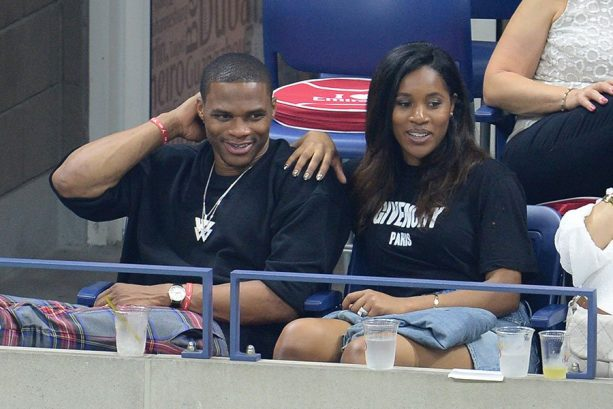 Russell Westbrook and Wife At US Open