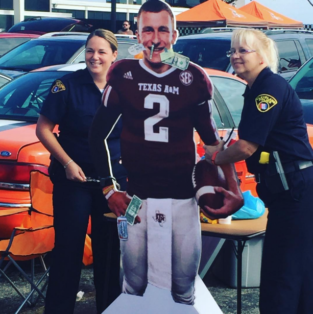 Cleveland Police Tailgating With Johnny Manziel