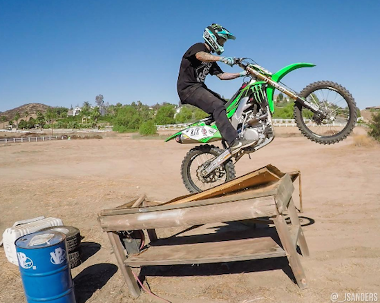 Moto X Champion Having Fun In His Backyard