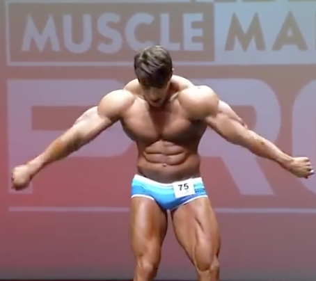 BodyBuilder Breaking It Down On Stage