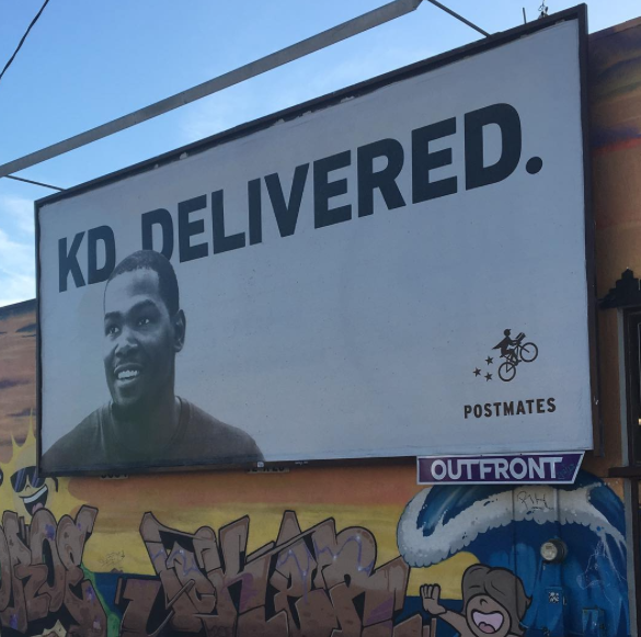 Kevin Durant and Postmates Teaming Up To Deliver?