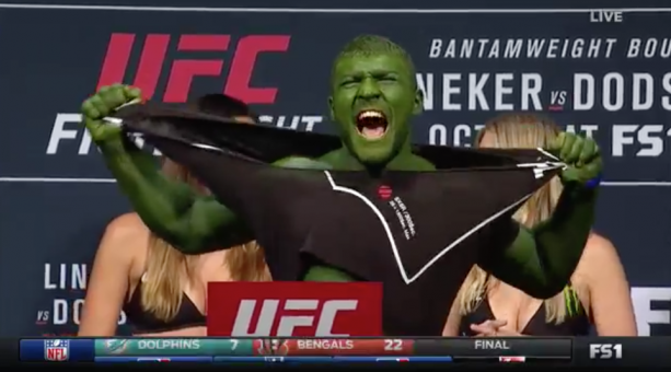 UFC Fighter Goes Incredible Hulk During Weigh-Ins