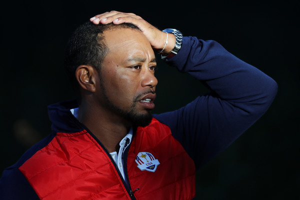 Tiger Woods Shows Off New Beard