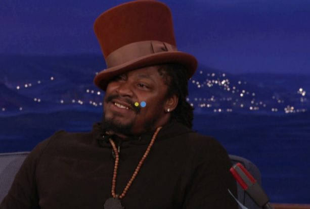 Marshawn Lynch Plays Willy Wonka For The CONAN Audience