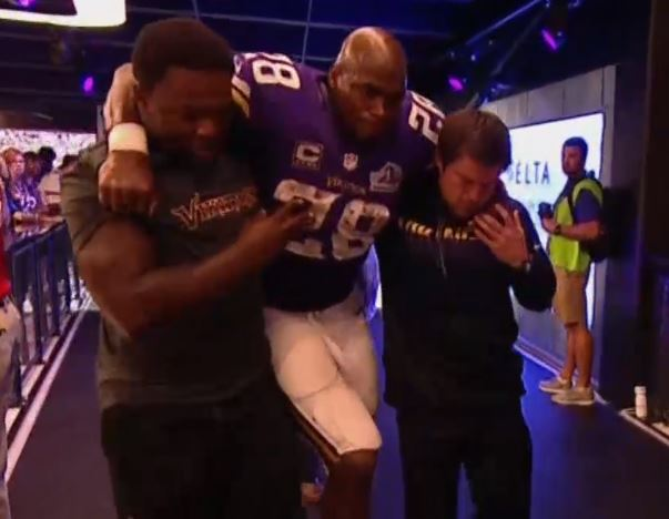 Adrian Peterson Got to Check out the New Digs Last Night