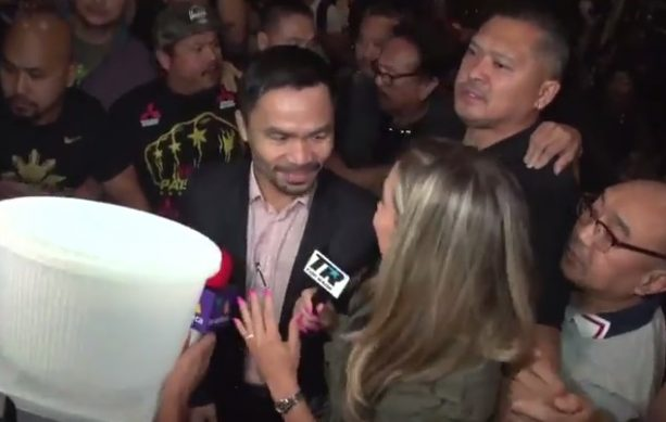 Manny Pacquiao Greeted By Huge Crowd At LAX