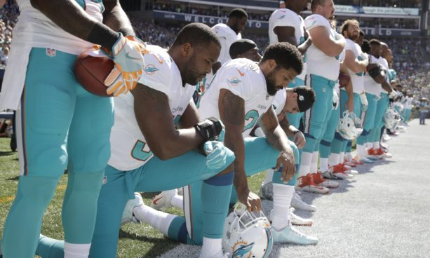 Dolphins Fan Burn Dolphins Jerseys Over Anthem Protest
