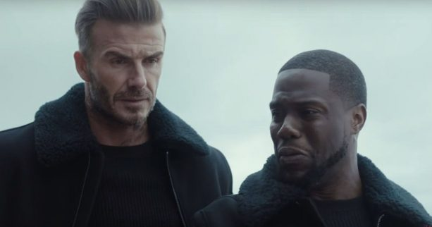 David Beckham and Kevin Hart on a road trip