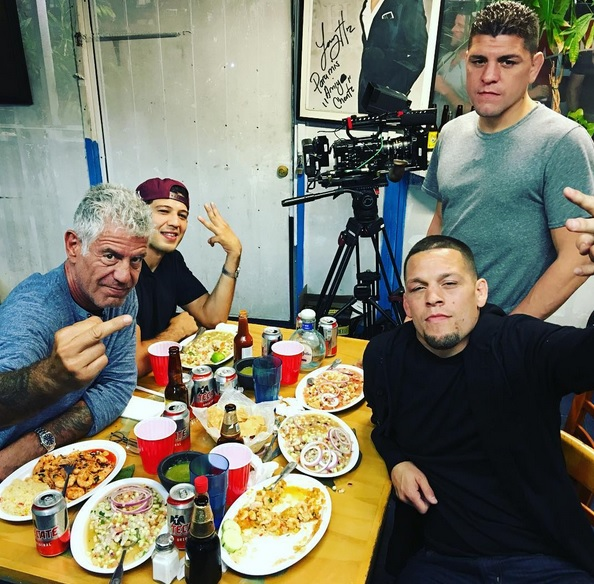 Anthony Bourdain Had Dinner with Nick and Nate Diaz