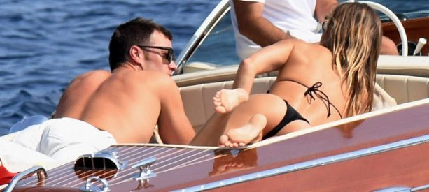 Tom and Gisele on a Boat