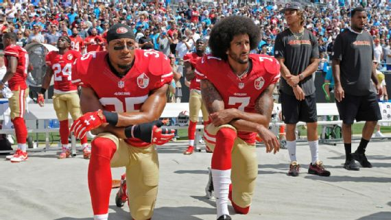 NFL players who protested during national anthem in Week 2