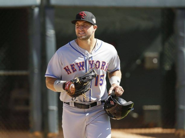Watch Tim Tebow Get his Very First Hit