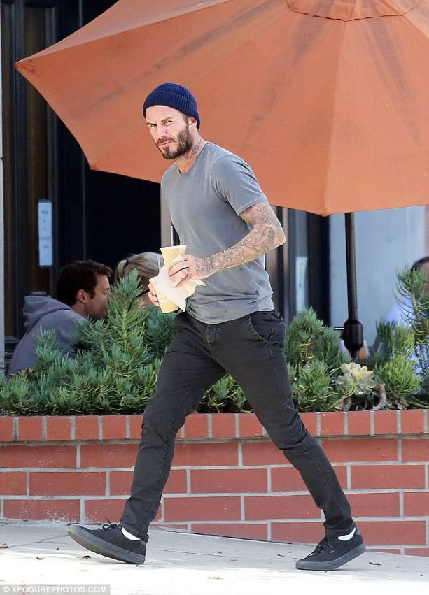 David Beckham Checking out the California Girls