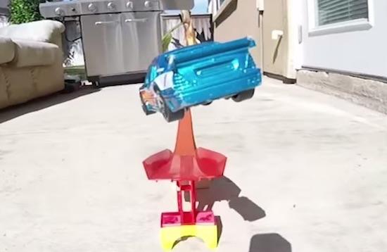 Hot Wheels Jump Gets Filmed Like A Video Game
