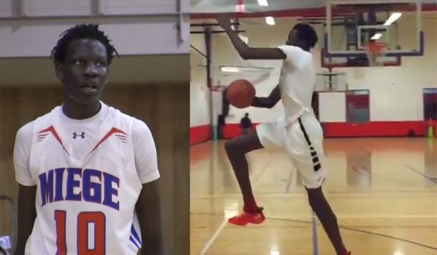 Manute Bol's 7 Foot Son Bol Bol Beasting on kids at basketball camp