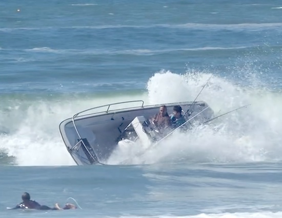 Teen Surfers Help Rescue Crashed Boat