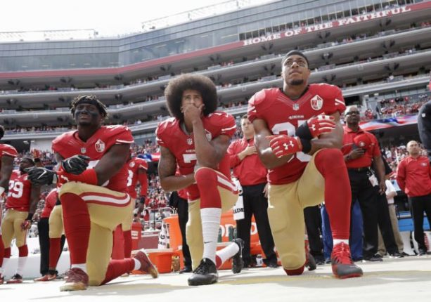 NFL players who protested during the national anthem in Week 4