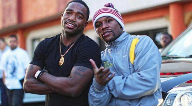 Adrien Broner Is Back At The Gym & He's Training With Floyd Mayweather!