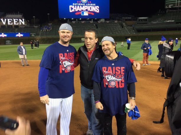 Pearl Jam's Eddie Vedder Celebrates With Cubs
