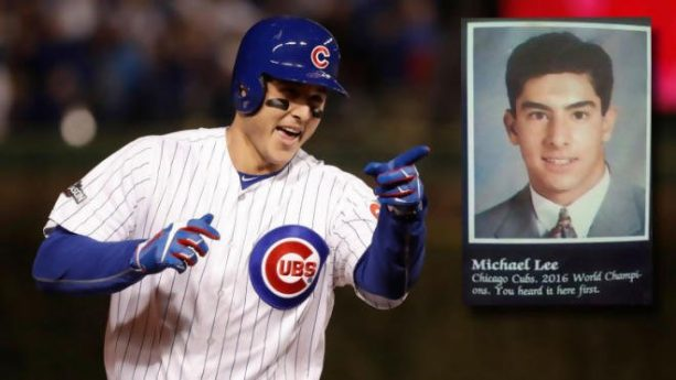 Guy From 1993 yearbook Predicted Cubs would win in 2016
