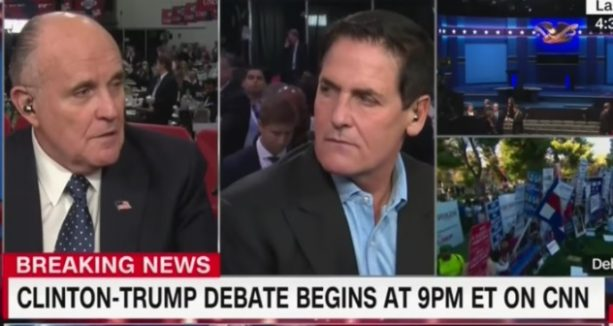 Rudy Giuliani and Mark Cuban Blow Up in Insane CNN Fight
