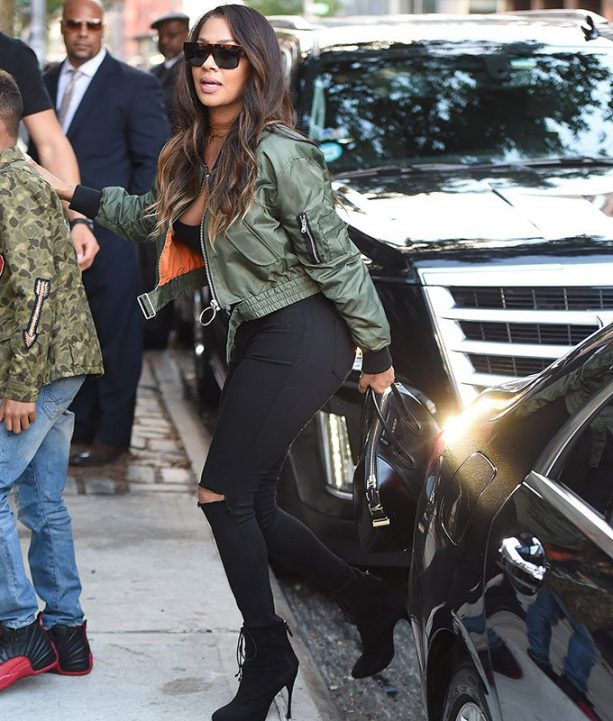 Melo's Wife Leaves the Big Ring at Home While Visiting Kim K