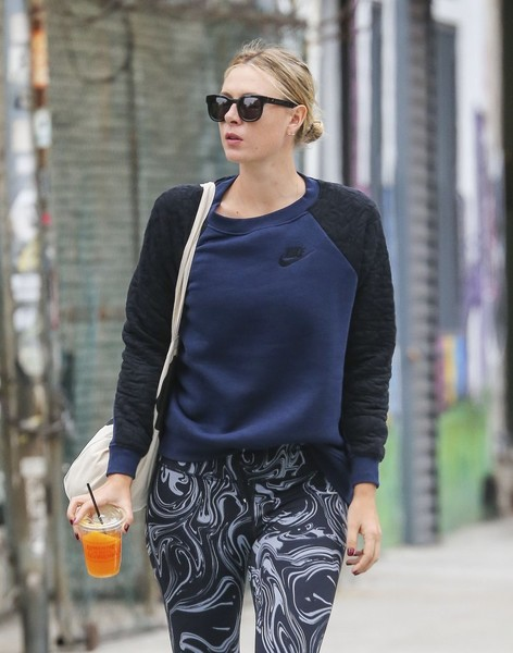 Maria Sharapova Having Juice In New York