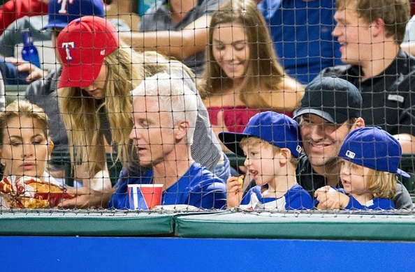 Tony Romo Was Spotted At The Texas Rangers Game