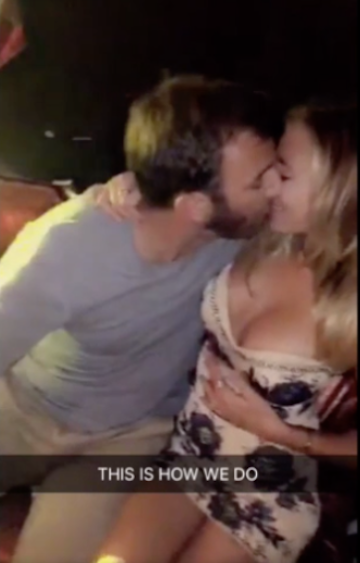Paulina Gretzky & Dustin Johnson Lip Locked In Vegas