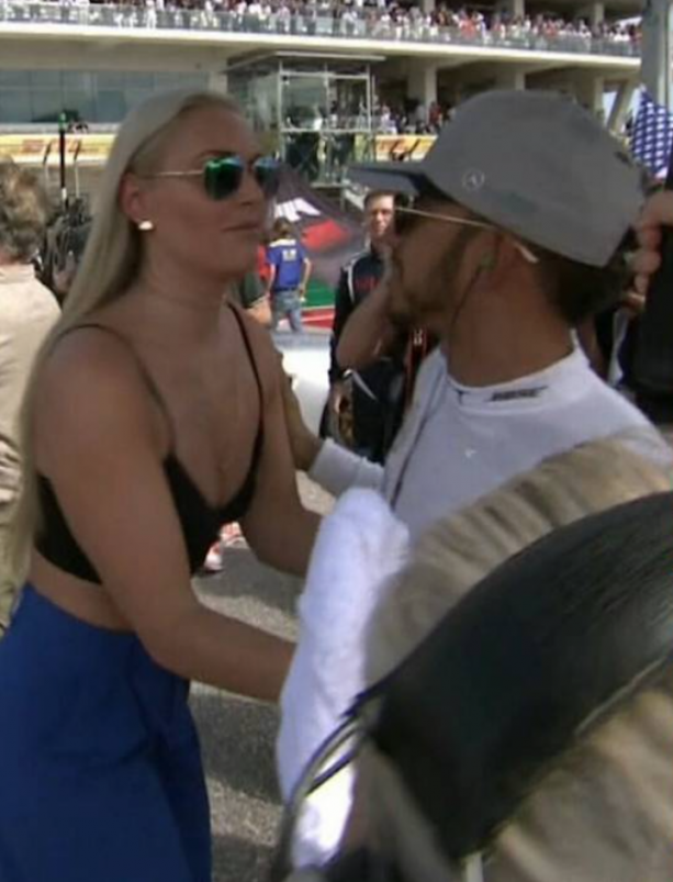 Lindsey Vonn and Lewis Hamilton Are Definitely Smashing