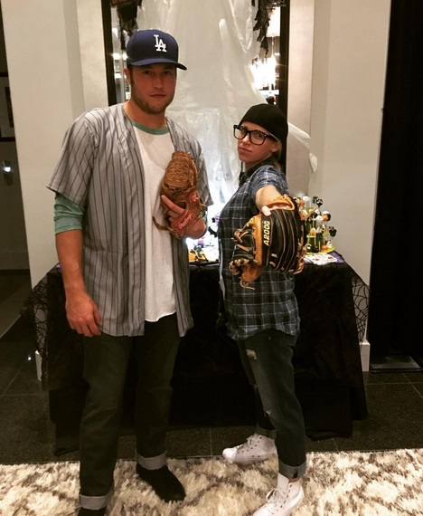 Matthew Stafford and Wife Hit up a Halloween Party