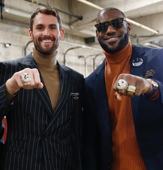Kevin Love and LeBron Just Became Best Friends