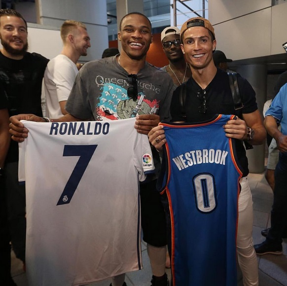 Ronaldo and Russell Westbrook Play Tradesy