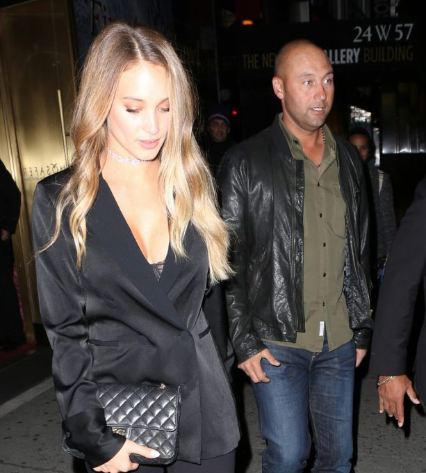 Derek and Hannah Jeter Make Rare NYC Appearance