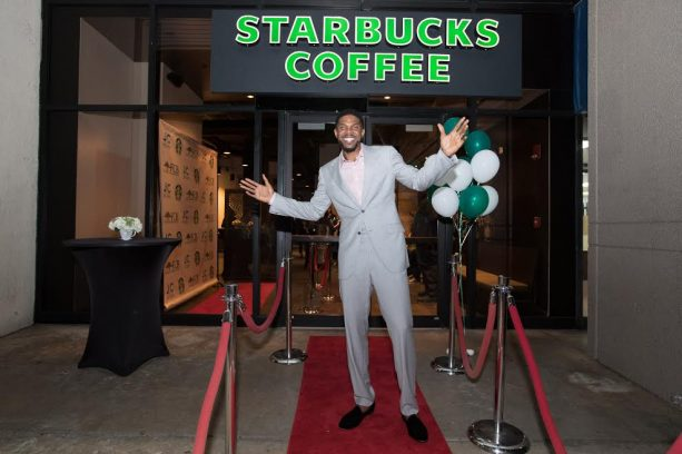 Udonis Haslem's VIP Preview of new Starbucks in Miami