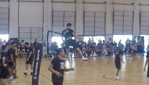 Freak volleyball athlete flies above the rest for Spikes