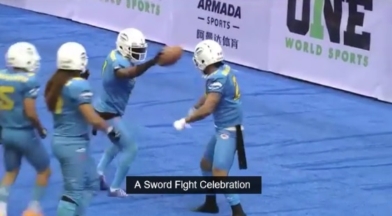 The Chinese Arena Football League Knows How to Celebrate