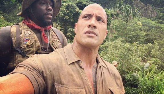 The Rock Has Kevin Hart's Di*k on His Back