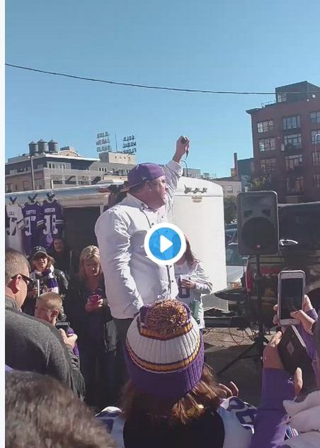 Minnesota Vikings Fans Eating Fish Heads