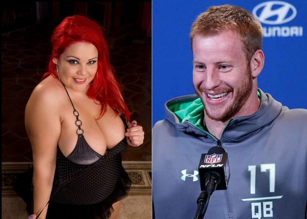 Porn Company Nabs Carson Wentz Player of the Month
