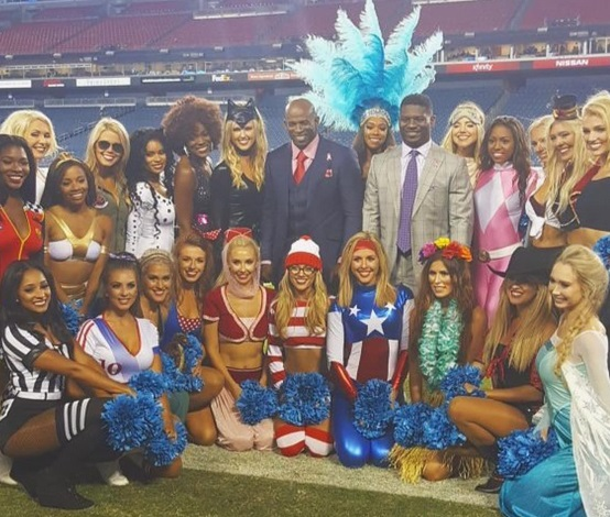 Check out the Titans Cheerleaders Rocking Their Halloween Costumes