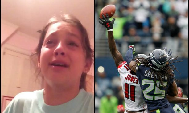 Girl Breaks Down after Richard Sherman Pass Interference Not Called
